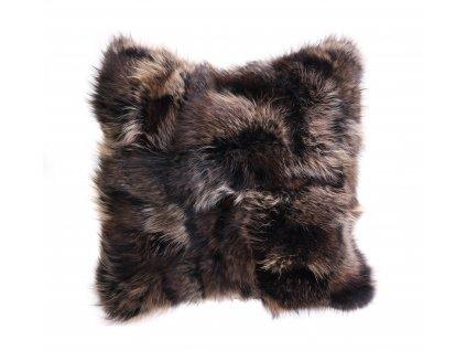 Kožešinový polštář z finského mývalovce - Black Natur
