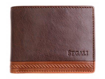 Malá pánská kožená peněženka Segali 81040 hnědá