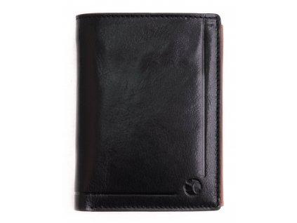 Pánská kožená peněženka Segali 101A černá + koňak