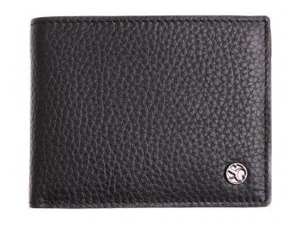 Pánská kožená peněženka Segali 725 166 2071 černá + šedý vnitřekv
