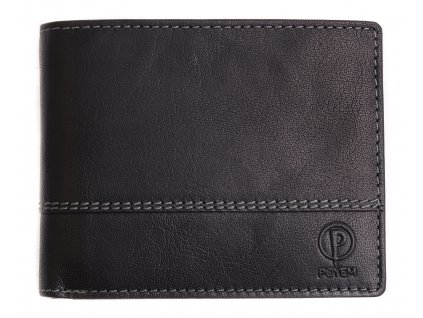 Pánská kožená peněženka Poyem 5221 černá