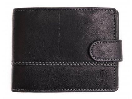 Pánská kožená peněženka Poyem 5223 černá
