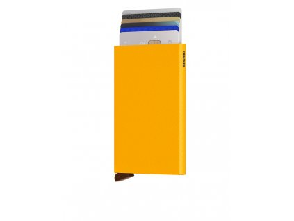 Secrid Cardprotector Powder Ochre Front Cards