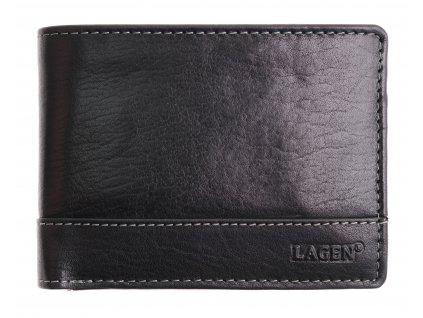 Pánská kožená peněženka Lagen 64665 černá