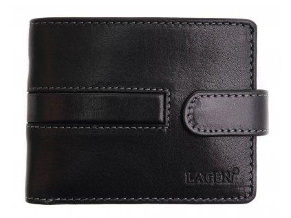 Pánská kožená peněženka Lagen 1997 T černá