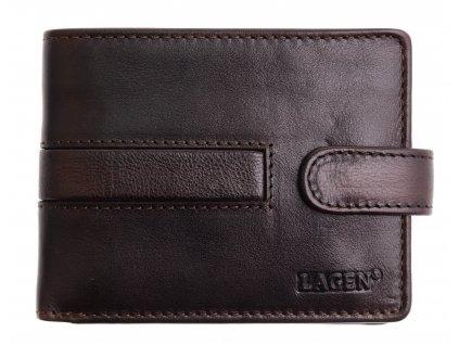 Pánská kožená peněženka Lagen 1997 T tmavě hnědá