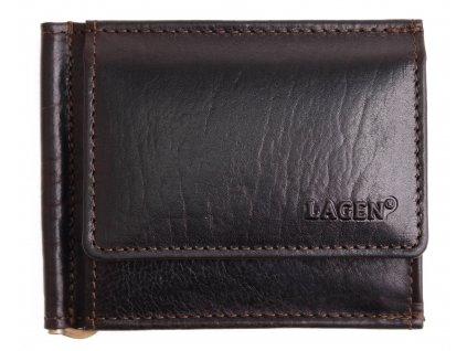 Pánská kožená dolarka Lagen 1999 T tmavě hnědá