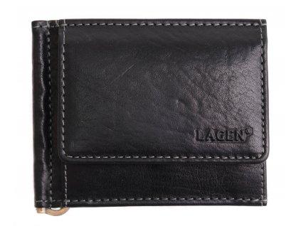 Pánská kožená dolarka Lagen 1999 T černá