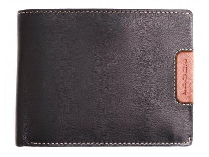 Pánská kožená peněženka Lagen 615195 černá