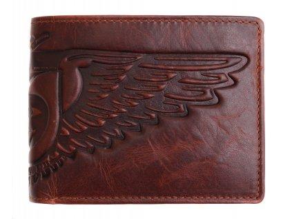 Pánská kožená peněženka Lagen 6537 hnědá