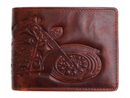 Pánská kožená peněženka Lagen 6535 bike hnědá