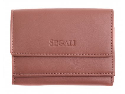 Malinká dámská kožená peněženka Segali SG1756 MINI baby pink