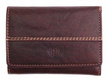 Dámská kožená peněženka Poyem 5225 hnědá