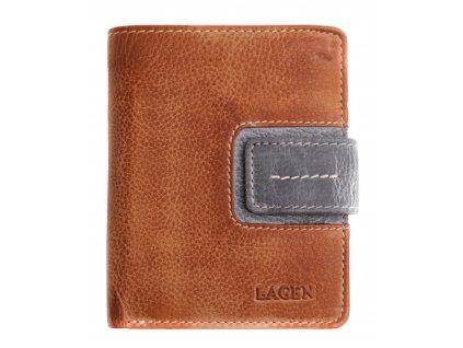 Dámská  kožená peněženka Lagen 3310 hnědošedá