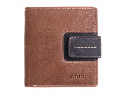Dámská  kožená peněženka Lagen 3305/18 hnědočerná