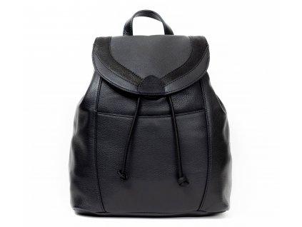 kvalitní a elegantní kožený batoh černý z pravé kůže