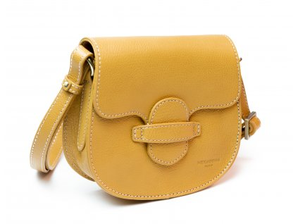 Malá dámská kožená kabelka Hexagona Wild 136515 hořčicová