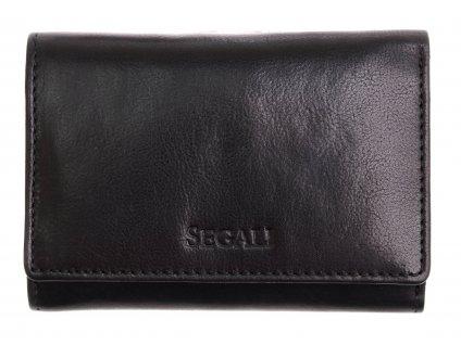 Malá dámská kožená peněženka Segali SG - 870 černá