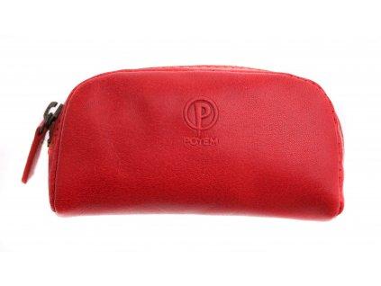 Kožená klíčenka Poyem 5218 červená
