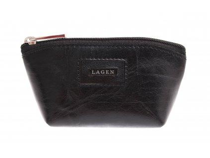 Kožená klíčenka Lagen 5540 černá