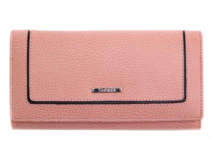 Dámská kožená peněženka Segali 7075  růžová
