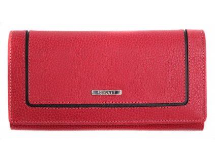 Dámská kožená peněženka Segali 7075  červená