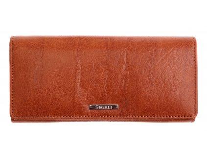 Dámská kožená peněženka Segali 7120 koňakově hnědá