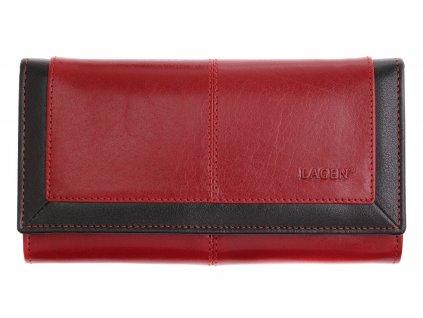 Dámská kožená peněženka Lagen 4228 BLC červenočerná