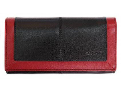 Dámská kožená peněženka Lagen 4228 BLC černočervená
