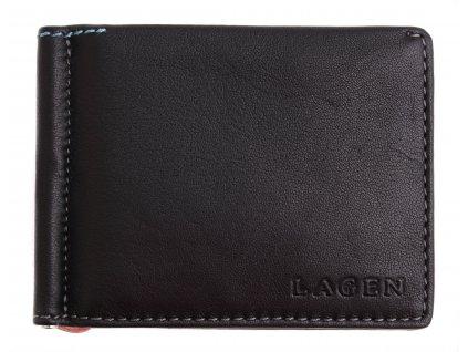 Pánská kožená dolarka Lagen TP 100 černá