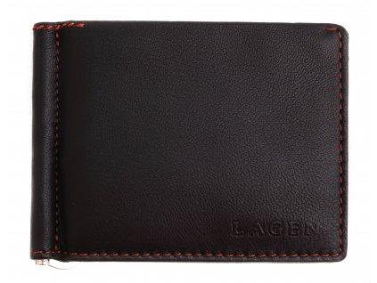 Pánská kožená dolarka Lagen TP 100 tmavě hnědá