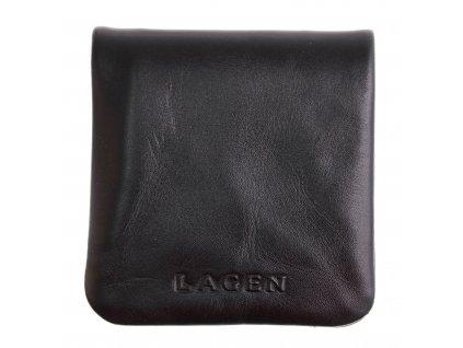 Kožený mincovník Lagen TS - 016 černý