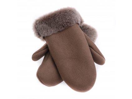 Dětské kožešinové palčáky DPA8 napalan tmavě béžový vel. 2-3 let