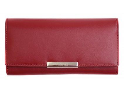 Dámská kožená peněženka Segali SG - 7066 vínově červená