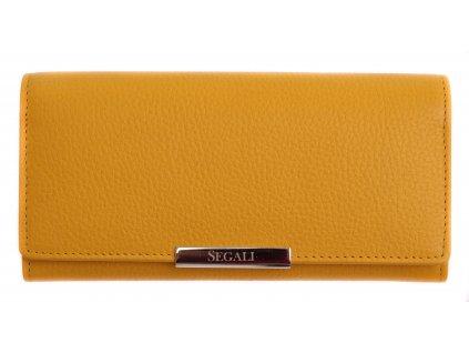 Dámská kožená peněženka Segali SG - 7066 žlutá