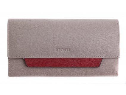Dámská kožená peněženka Segali SG - 7411 šedovínová