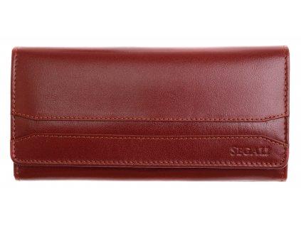 Dámská kožená peněženka Segali 2025A  koňakově hnědá