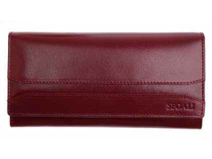 Dámská kožená peněženka Segali 2025A  Cherry Red
