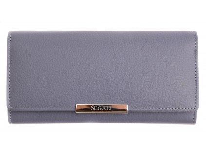 Dámská kožená peněženka Segali SG - 7066 světle modrá