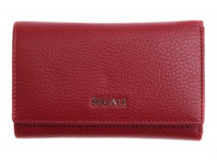 Dámská kožená peněženka Segali SG 7074 vínově červená
