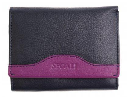 Dámská kožená peněženka Segali SG61420 blue/lila