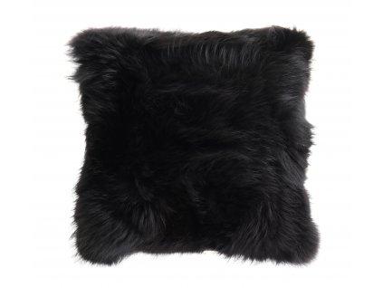 Kožešinový polštář z finského mývalovce - černý