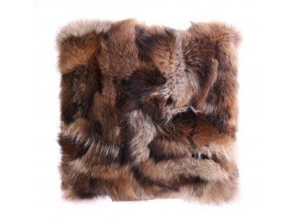 Kožešinový polštář z finského mývalovce - přírodní 2