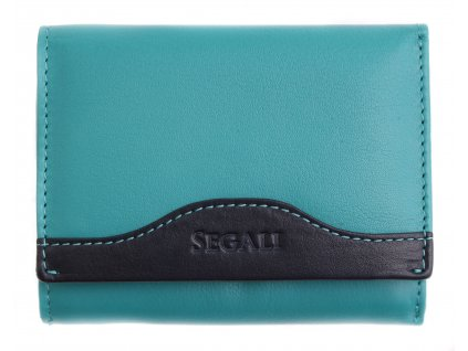 Dámská kožená peněženka Segali SG61420 tyrkys/blue