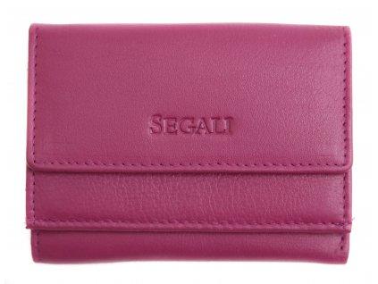 Malinká dámská kožená peněženka Segali SG1756 fuchsiová