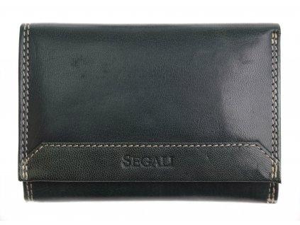 Dámská kožená peněženka Segali SG 7023Z tmavě zelená