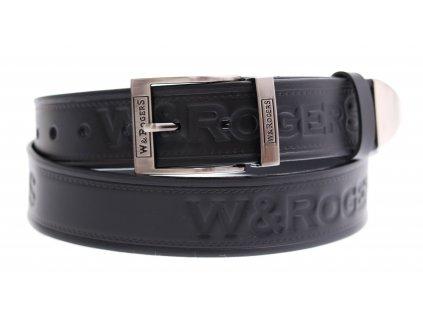 Pánský kožený opasek Penny Belts Rogers 46 černý