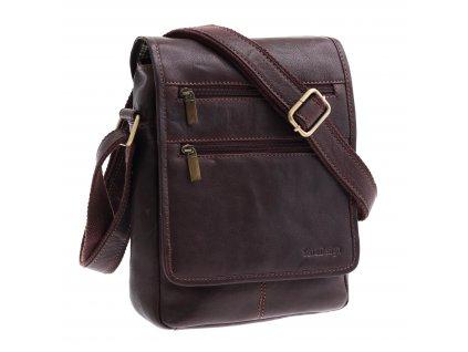 Pánská kožená taška přes rameno Sendi Design CTMG 715 hnědá