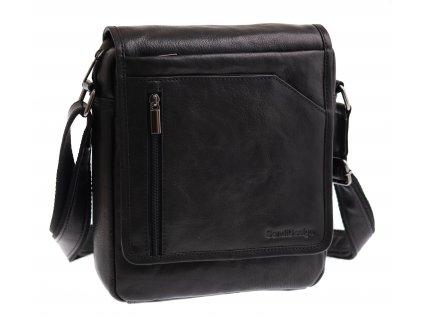 Pánská kožená taška přes rameno Sendi Design M 721 černá