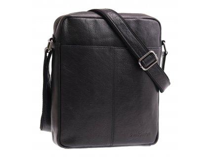 Pánská kožená taška přes rameno Sendi Design M 701 černá